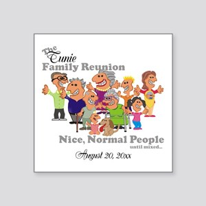 Personalized Family Reunion Funny Cartoon Sticker