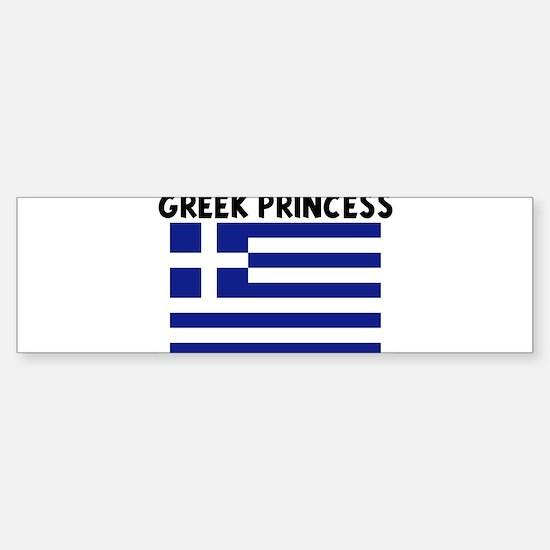 GREEK PRINCESS Bumper Bumper Bumper Sticker