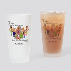 Personalized Family Reunion Funny Cartoon Drinking