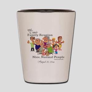 Personalized Family Reunion Funny Cartoon Shot Gla