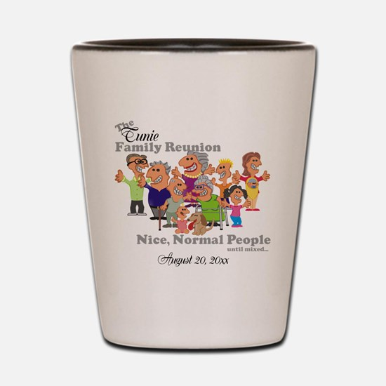 Personalized Family Reunion Funny Cartoon Shot Gla