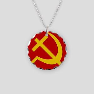 Emblem of Christian Socialis Necklace Circle Charm