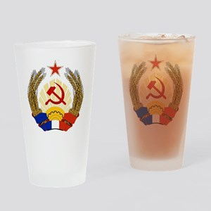 Emblem of Socialist France Drinking Glass