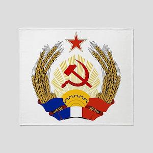 Emblem of Socialist France Throw Blanket