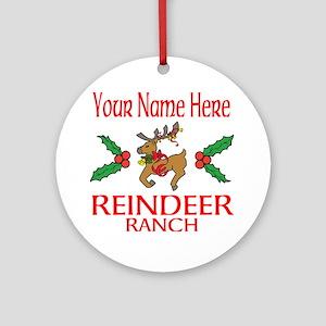 Reindeer Ranch Round Ornament