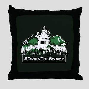 Trump-Drain the Swamp Throw Pillow