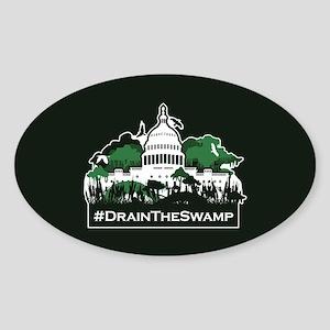 Trump-Drain the Swamp Sticker (Oval)