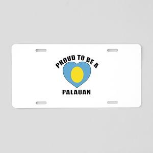 Palauan Patriotic Designs Aluminum License Plate