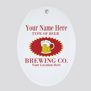 Your Brewing Company Oval Ornament