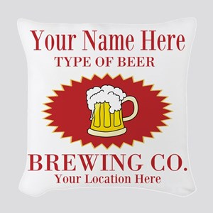 Your Brewing Company Woven Throw Pillow