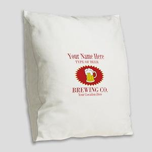 Your Brewing Company Burlap Throw Pillow