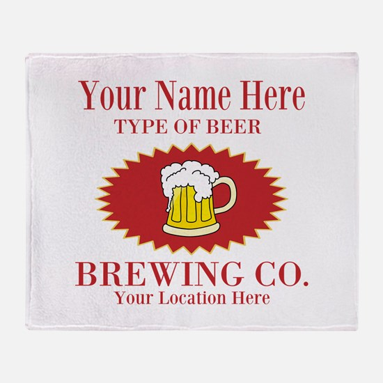 Your Brewing Company Throw Blanket