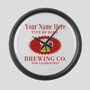 Your Brewing Company Large Wall Clock