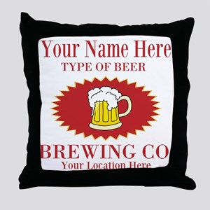 Your Brewing Company Throw Pillow