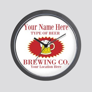 Your Brewing Company Wall Clock