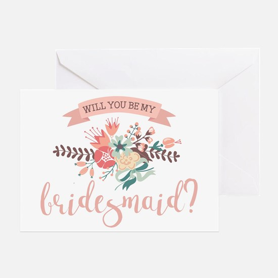 Classy Floral Will You Be My Bridesmaid Greeting C