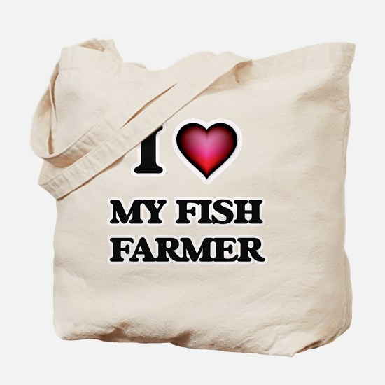 I Love My Fish Farmer Tote Bag
