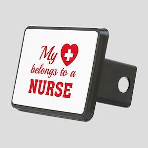 Heart Belongs Nurse Rectangular Hitch Cover