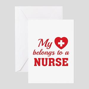 Heart Belongs Nurse Greeting Card