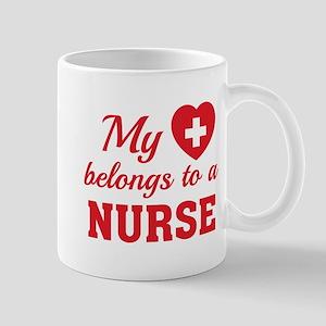 Heart Belongs Nurse Mug