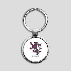 Lion-Gilliland.MacLeanDuart Round Keychain