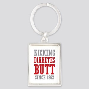 Diabetes Butt Since 1962 Portrait Keychain