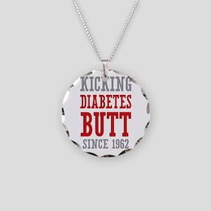 Diabetes Butt Since 1962 Necklace Circle Charm