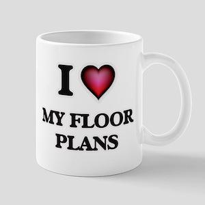 I Love My Floor Plans Mugs