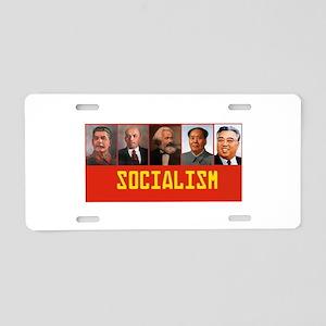 Socialism: Marx, Stalin, Le Aluminum License Plate