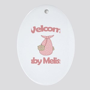 Welcome Baby Melissa Oval Ornament