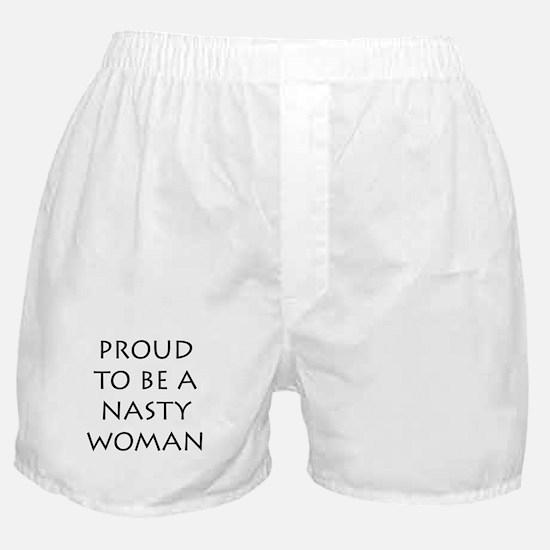 ProudNastyWomanBlack Boxer Shorts