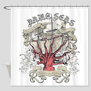 Dark Seas Kraken Shower Curtain