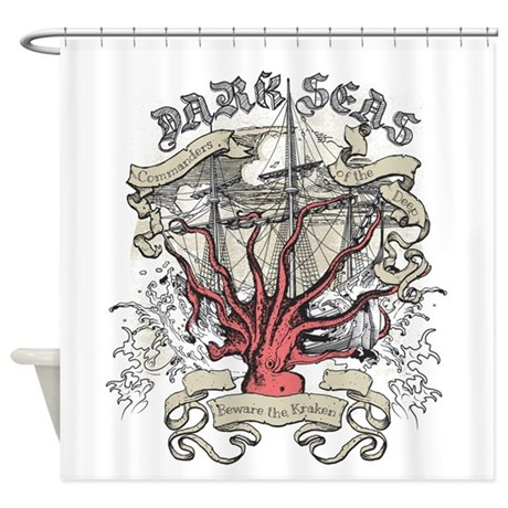 Dark Seas Kraken Shower Curtain By Admin CP123132659