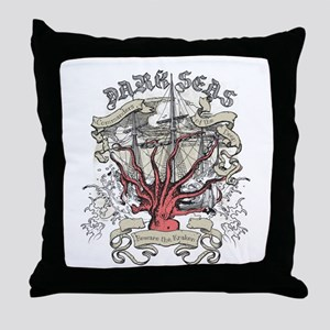 Dark Seas Kraken Throw Pillow