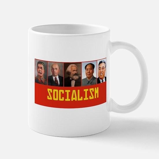Socialism: Marx, Stalin, Lenin, Mao, Kim Il-s Mugs