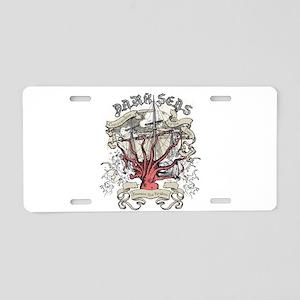 Dark Seas Kraken Aluminum License Plate