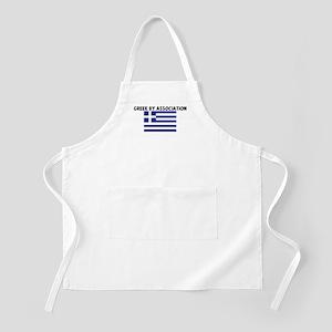 GREEK BY ASSOCIATION BBQ Apron