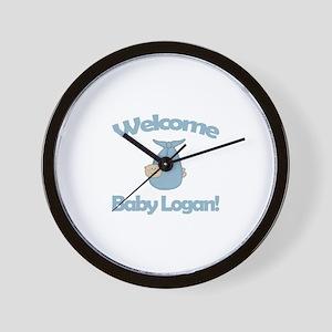 Welcome Baby Logan Wall Clock