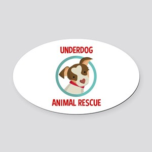 Underdog Official Logo Oval Car Magnet