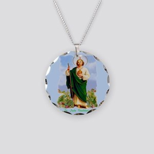 St. Jude Thaddaeus (Style F) Necklace Circle Charm