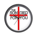 The Son Died For You Christia Wall Clock