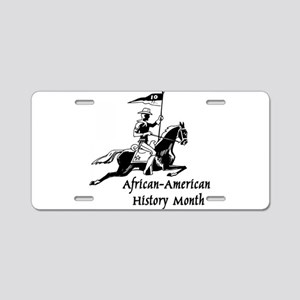 African American History Month Aluminum License Pl