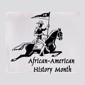 African American History Month Throw Blanket