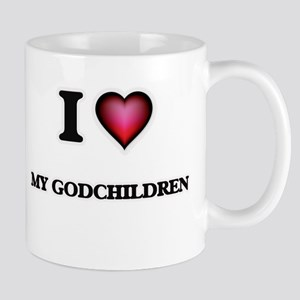 I Love My Godchildren Mugs