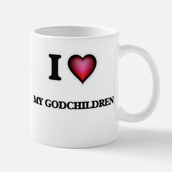 I Love My Godchildren Mugs