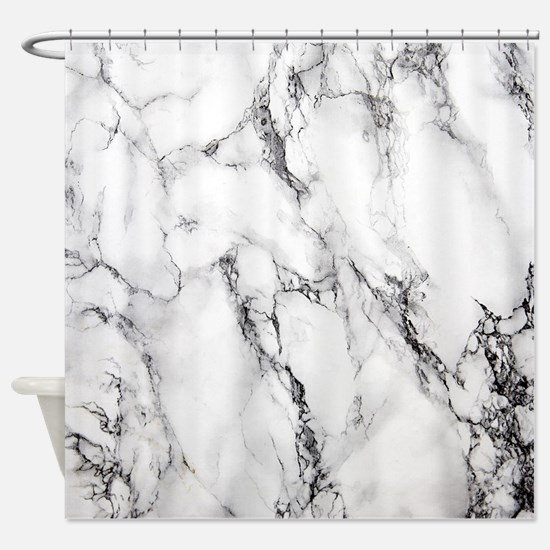 Cool Black And White Shower Curtain