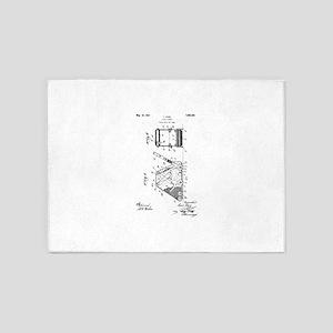 1927 L. Durr Floor Sander 5'x7'Area Rug