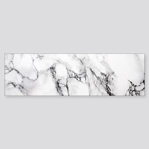 White Marble Bumper Sticker