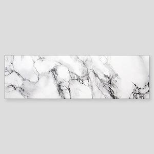 White Marble Bumper Sticker