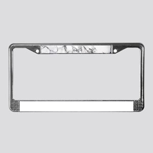 White Marble License Plate Frame